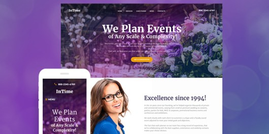 InTime - Events Management Company WordPress Theme