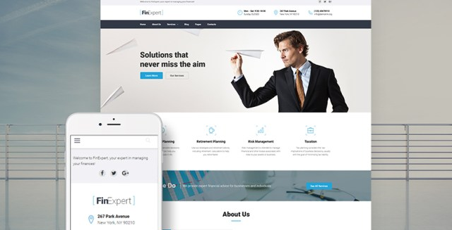 FinExpert - Financial Advisory Company Responsive WordPress Theme