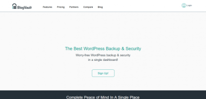 Best WordPress Backup - BlogVault Review