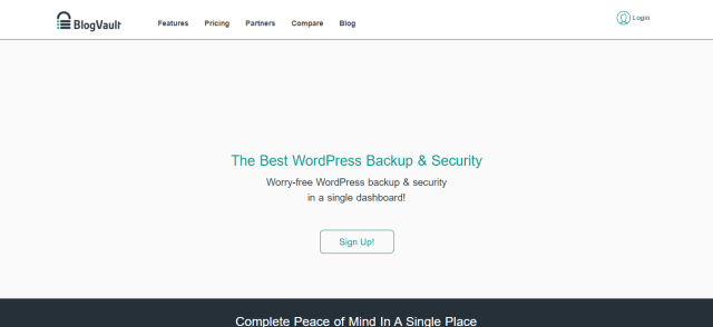 Best WordPress Backup - BlogVault Review