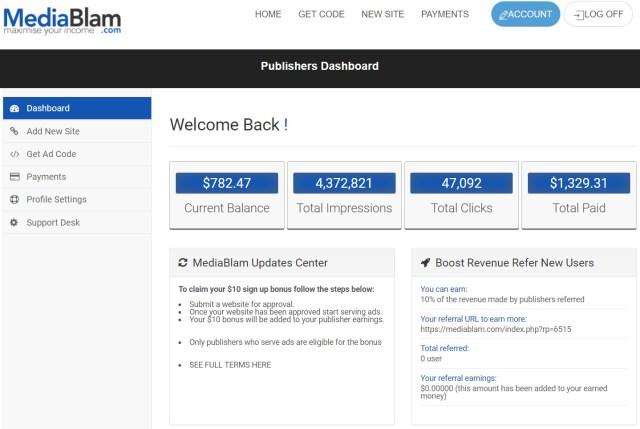 Mediablam Review : Payment