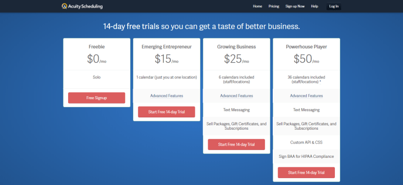 Pricing - Acuity Scheduling Review