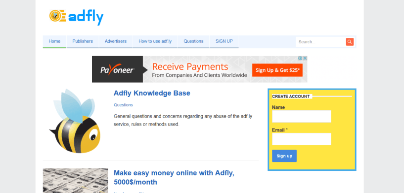 Adfly - Earn Money Online