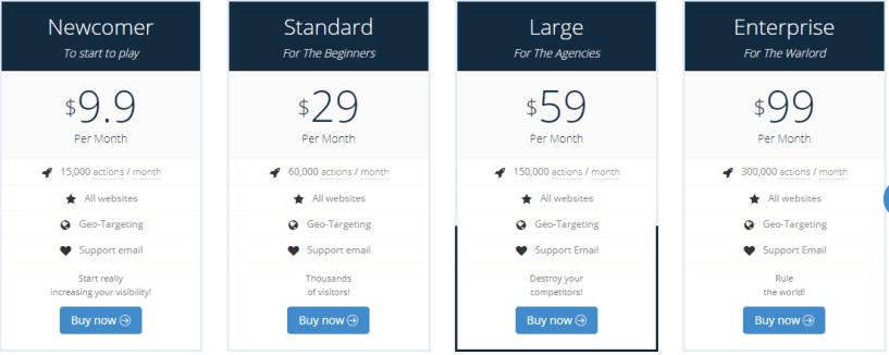 Babylon Traffic Review - Pricing
