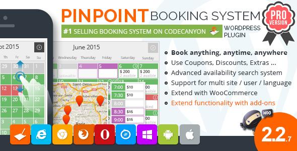 Pinpoint Booking System PRO booking wordpress plugin