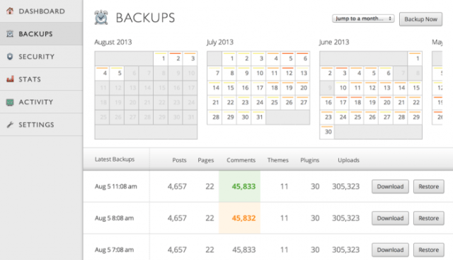 VaultPress - Backup Service - Managed WordPress Hosting