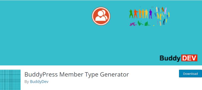 BuddyPress Members Types - BuddyPress Plugin