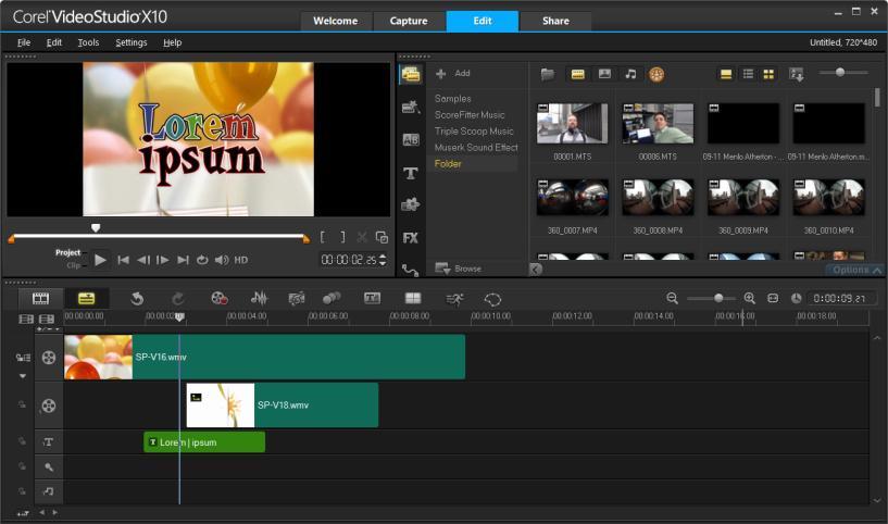 Corel Video Studio Ultimate X10