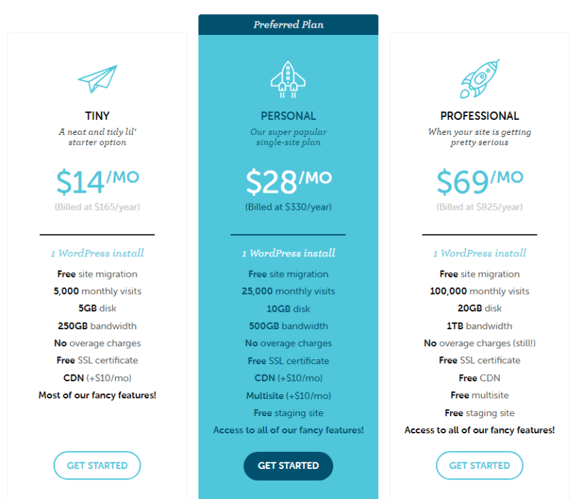 Flywheel Hosting Pricing