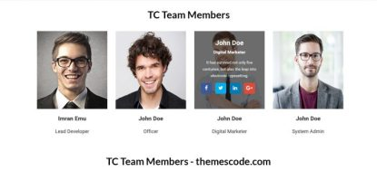 TC Team Members - Team Management Plugin