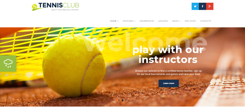 Tennis club - WordPress Sports Theme For Clubs and Gyms