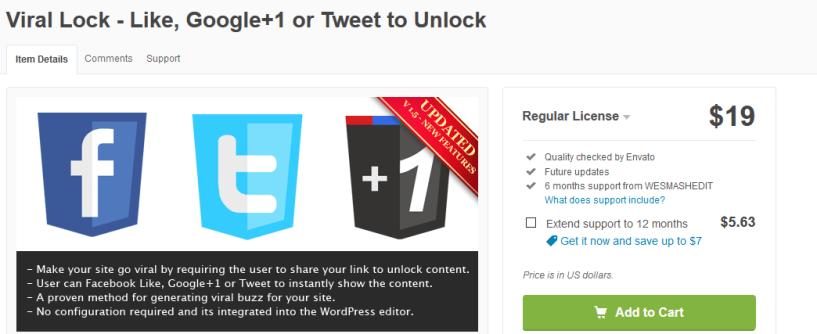 Viral WordPress locker - Content Locker Plugins