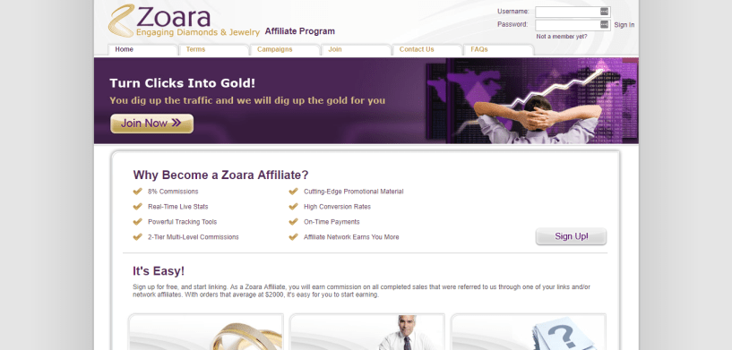 Zoara Jewellery Affiliates Program