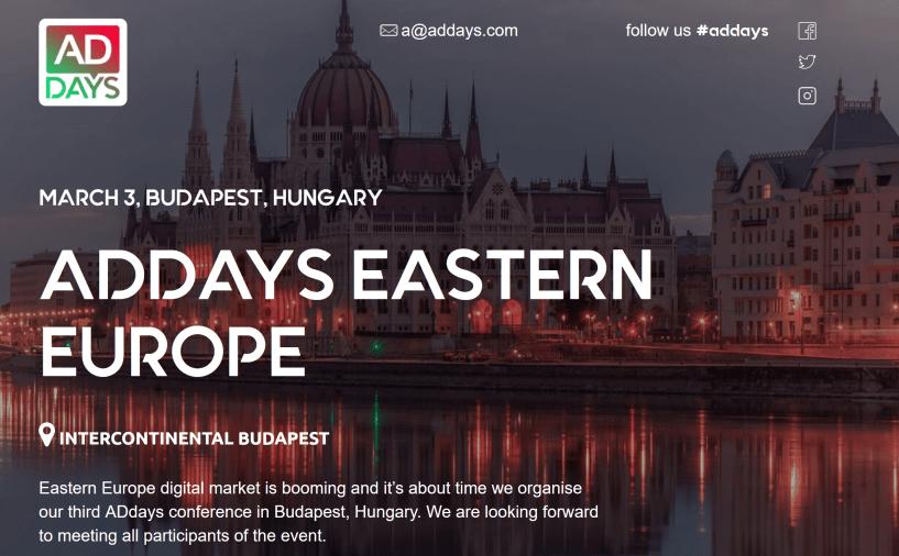 addays europe budapest event