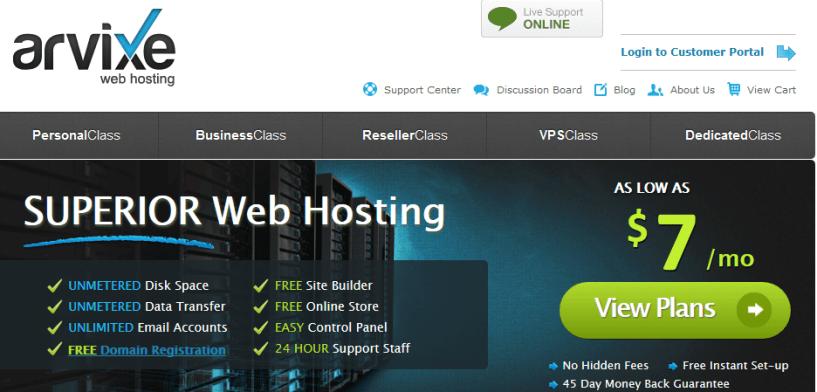 arvixe.com - Top Adult Web Hosting