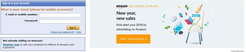 Amazon FBA- Create Account