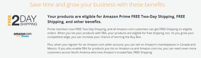 Amazon FBA- Benifits