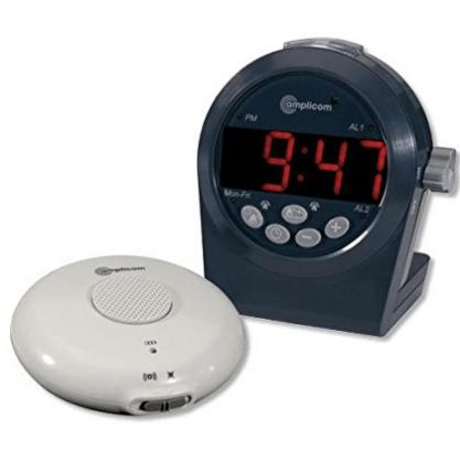Amplicom TCL-200 Digital Alarm Clock for heavy sleepers