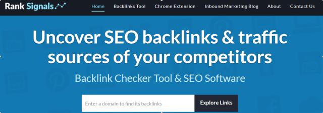 Rank Signals- Backlinks Checker Tools