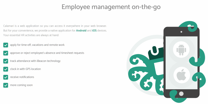 Calamari Review - Employee Management