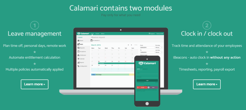 Calamari Review - Leave management and attendance tracking system