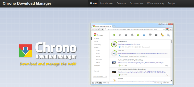 Chrono- Download Manager