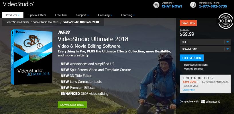 Corel Studio Video tool for blogging