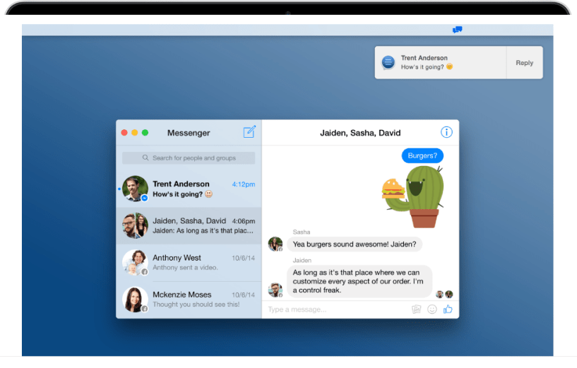 Current for Mac- Facebook Messenger Apps