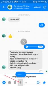 Facebook Messenger- Send an Audio