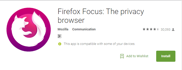 Firefox Focus- Anonymous Browsing Apps