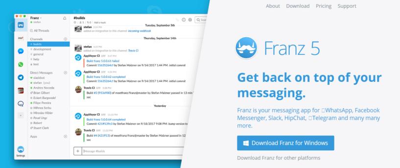 Franz- Facebook Messenger Apps