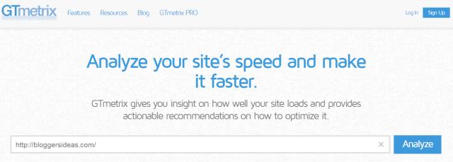 GTmetrix- Website Speed Test Tool