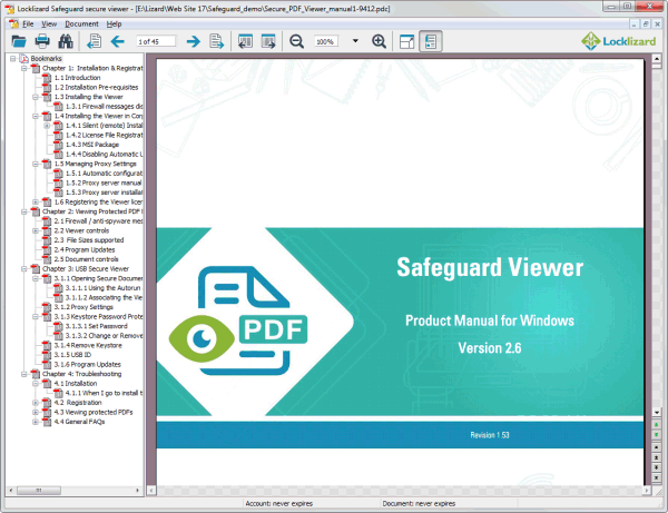 LockLizard Review - Secure PDF Viewer