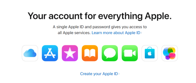 Manage Apple ID- Create a New Apple ID