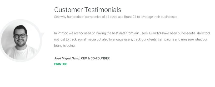 brand24 customer testimonials