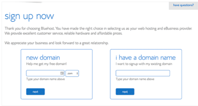 Bluehost Sign up- Create a Website With WordPress