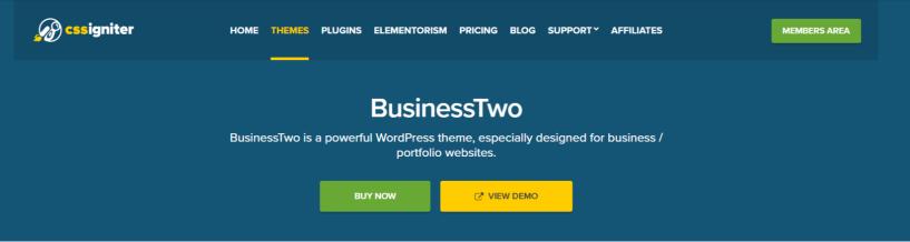 BusinessTwo- WordPress Business Themes