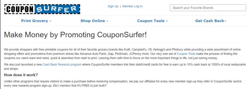 CouponSurfer- Affiliate Programs
