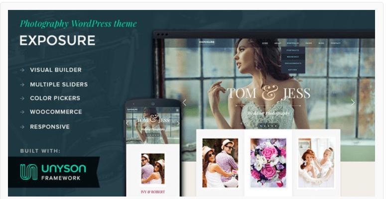 Exposure - Photography WordPress Themes