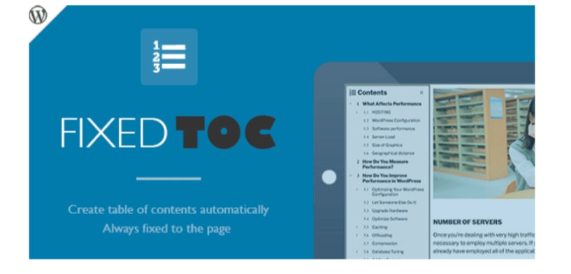 Fixed TOC Plugin- Table of Contents WordPress Plugins