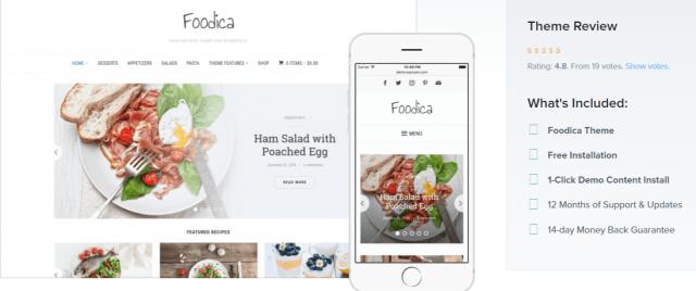 Foodica - WordPress Blog Themes
