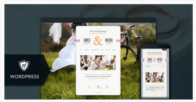 Just Married -Wedding WordPress Themes