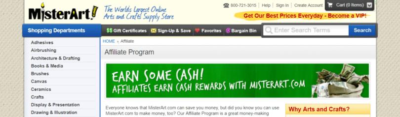 MisterArt- Art Affiliate Programs