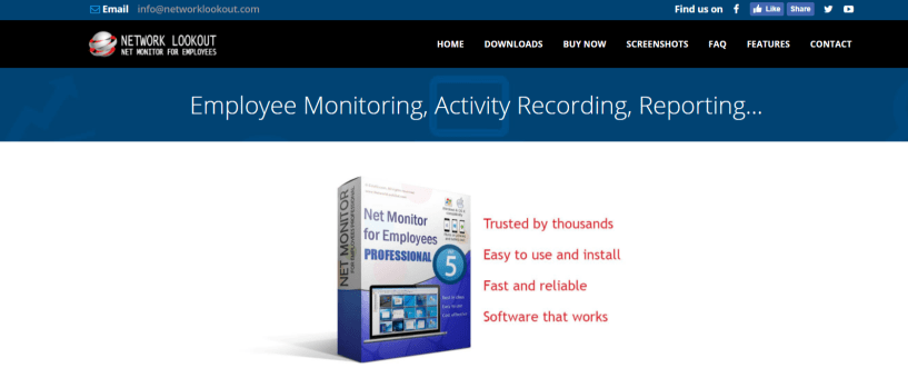 Net Monitor For Employees Professional Review: Network Lookout