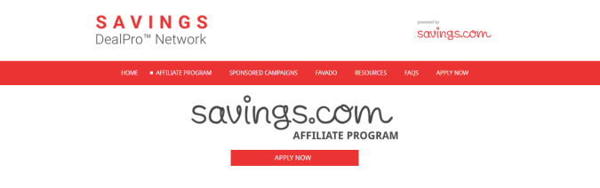 Savings.com- Affiliate Programs