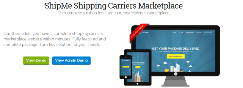 ShipMe Shipping Carriers - Marketplace WordPress Themes