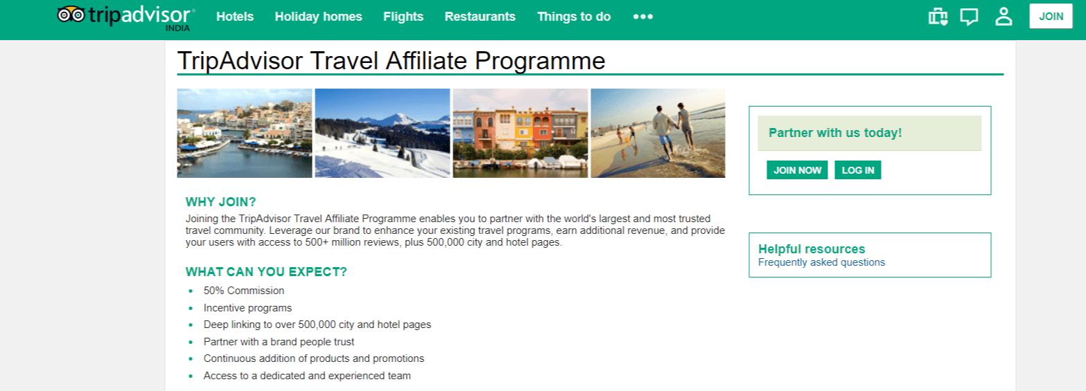 Trip Adviser- Affiliate Programs