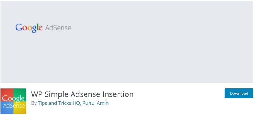 WP Simple Adsense Insertion —AdSense Plugins For WordPress