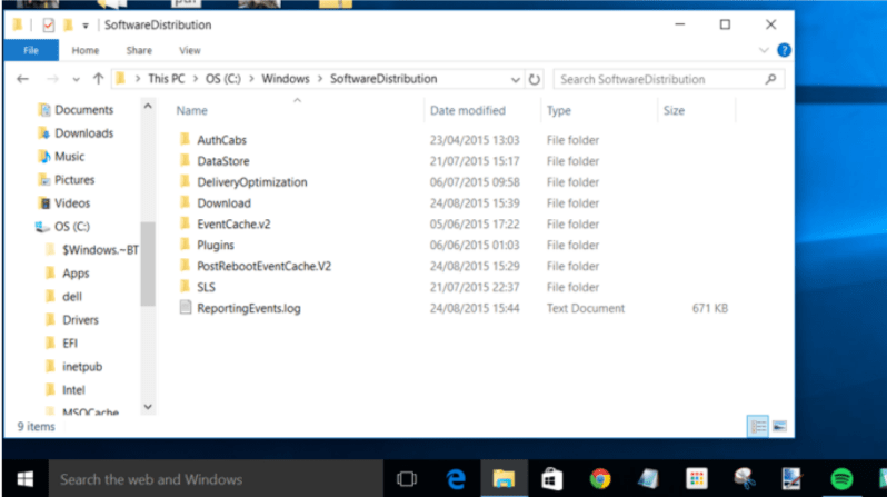 Windows Software Distribution- Fix Windows 10 update
