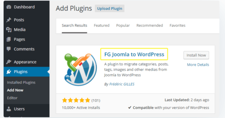 FG Joomla to WordPress — Migrate Joomla to WordPress